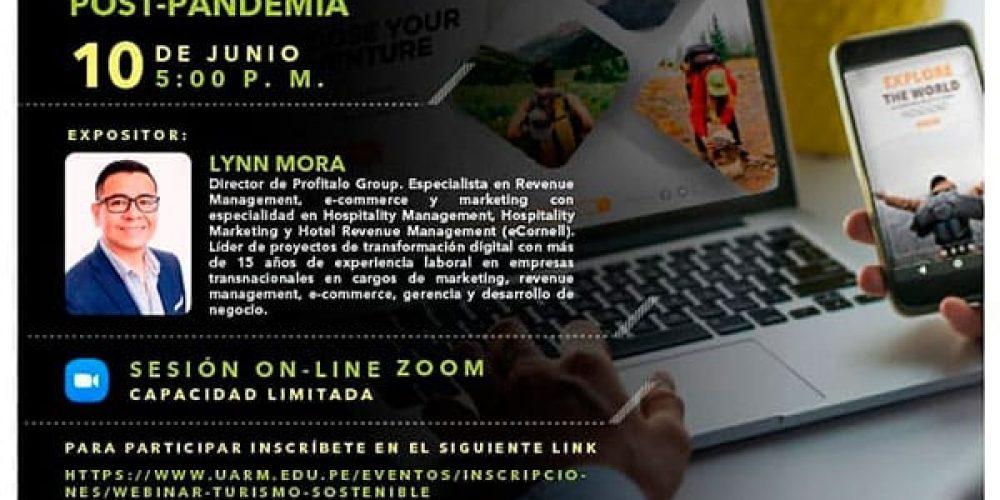 """Conversatorio """"NUEVAS ESTRATEGIAS DE MARKETING & E-COMMERCE TURÍSTICO POST PANDEMIA"""""""