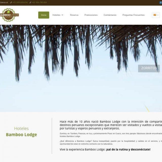 Bamboo Lodge de Zorritos presenta su nueva web