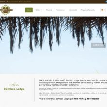 Bamboo Lodge from Zorritos beach present their new website