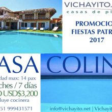 Casa Colin and Casa Blue with Special Discount for July, 28th Festivities