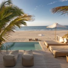 Casa Tierra, a new beach house rental located between Arennas and Kichic hotels.