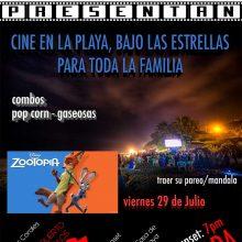Cine en la Playa este 29 julio 2016 en playa Pocitas, Máncora