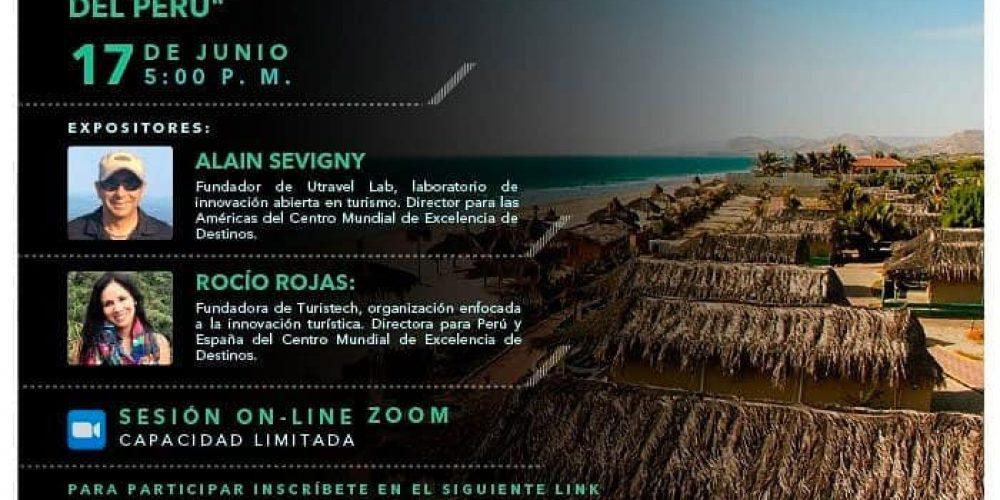 """Webinar: """"Excelencia en destinos turísticos, una nueva visión de desarrollo para las playas del norte del Perú""""."""
