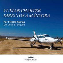 ¡Vuelos Charter directos a Máncora por Fiestas Patrias! Gracias a Marina Coast y Aero Link