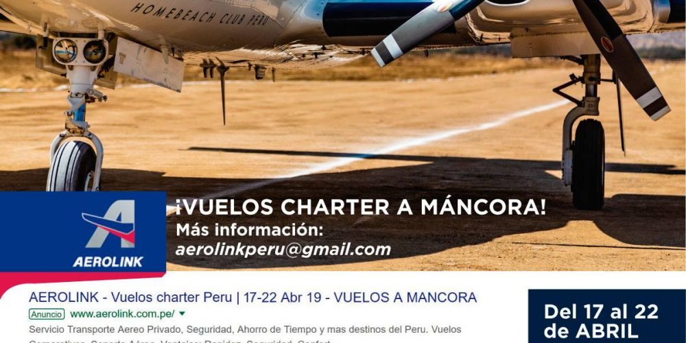Vuelos Charter directo a Máncora para Semana Santa