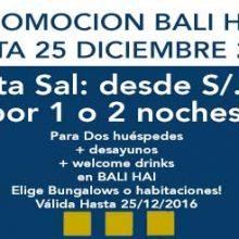 Balihai presenta su nueva promo hasta fines de 2016