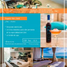 Paquete Abril 2018 de DCO Suites, Lounge & Spa