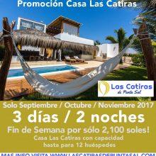 Special Price 2017 at Las Catiras Beach House at Punta Sal