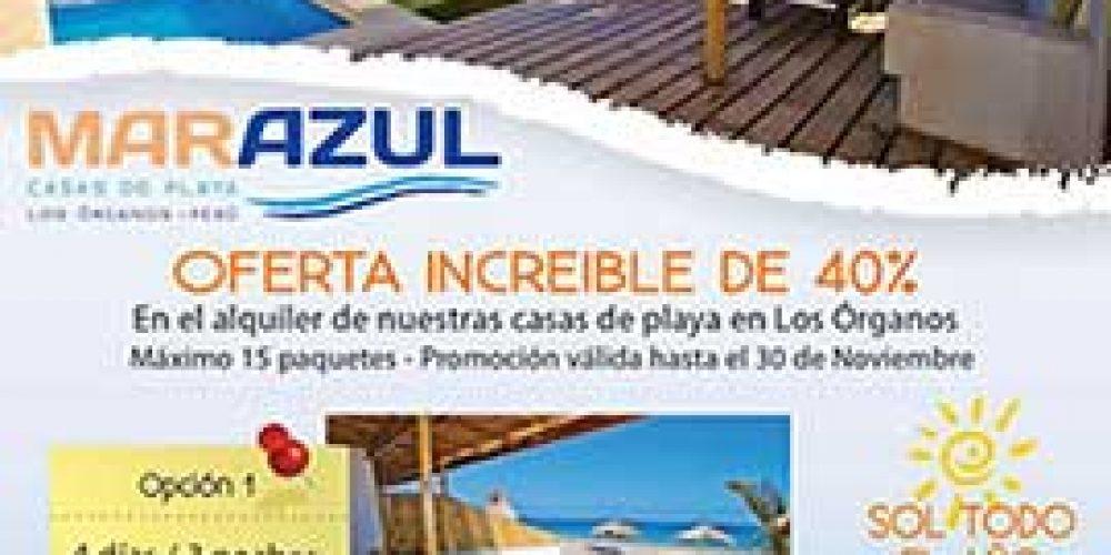 Casa Mar Azul en Los Organos con una super promo