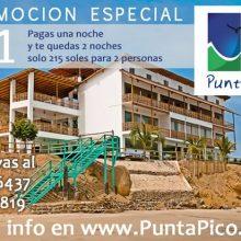 Promoción en hotel Punta Pico (Zorritos)