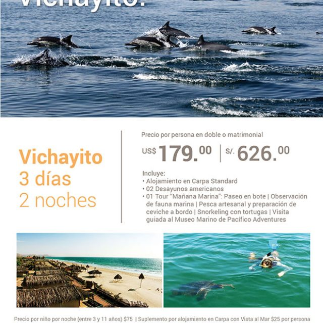 Promoción en Vichayito Bungalows & Carpas