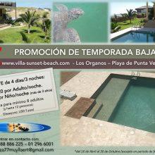 Promoción de Temporada Baja en Villa Sunset Beach