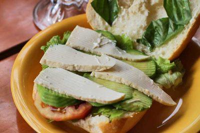 Sandwich Vegetariano por dentro!