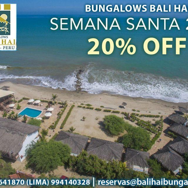 Bali Hai Bungalows con 20% Off para Semana Santa 2017