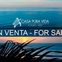 """Pura vida"" beach house for sale at El Ñuro"