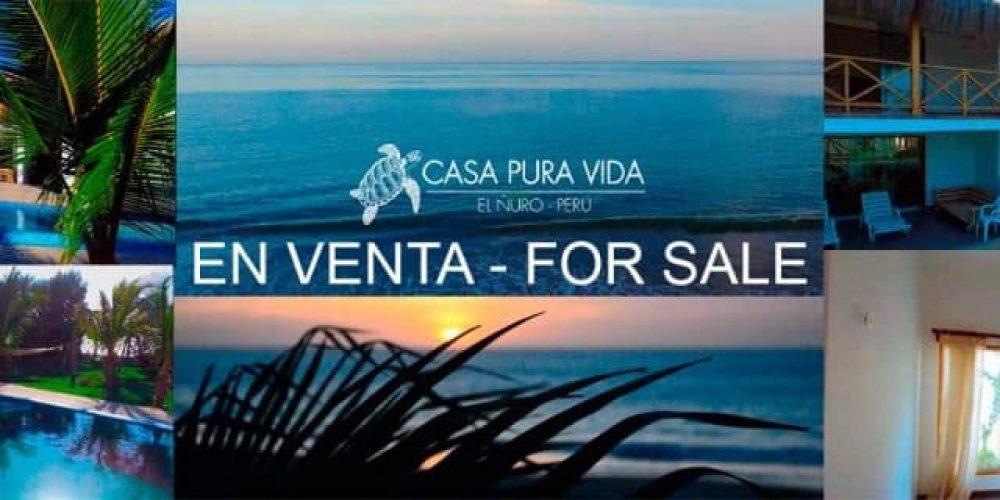 """Pura vida"" beach house for sale at El Ñuro"