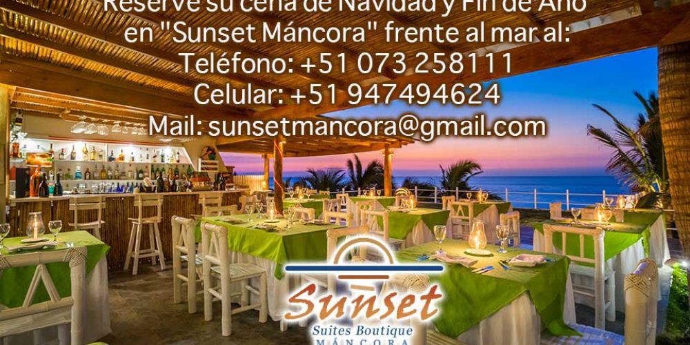 Sunset Residenza & Ristorante te invita a su cena de Navidad y Año Nuevo 2018