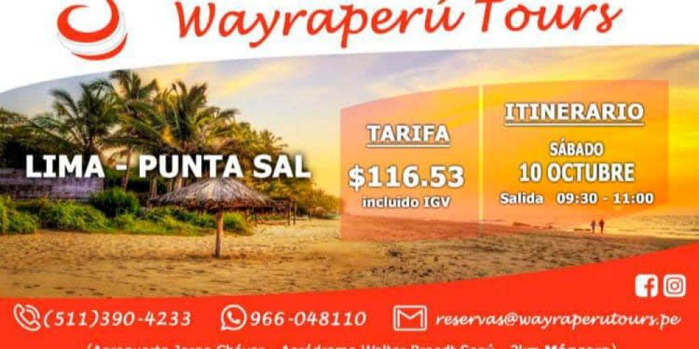 Vuelos Lima – Punta Sal con Wayra Perú con un super descuento