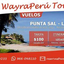 Promoción vuelo Punta Sal – Lima a sólo 100 dólares