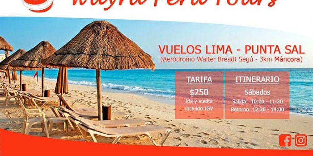 Vuelo Lima – Punta Sal, a sólo 3 kms de Máncora: Wayra Perú anuncia precios y horarios