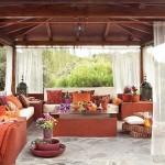 terraza con tela